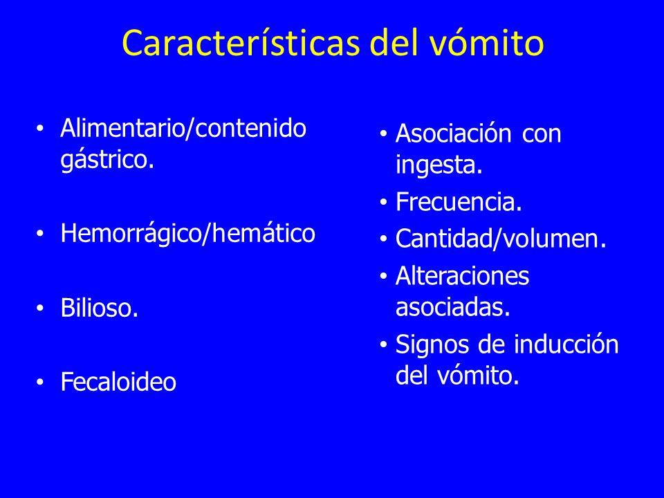 Características del vómito