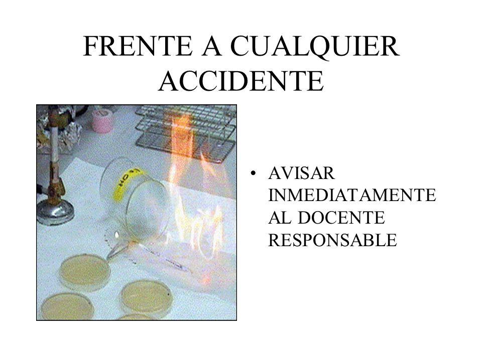 FRENTE A CUALQUIER ACCIDENTE