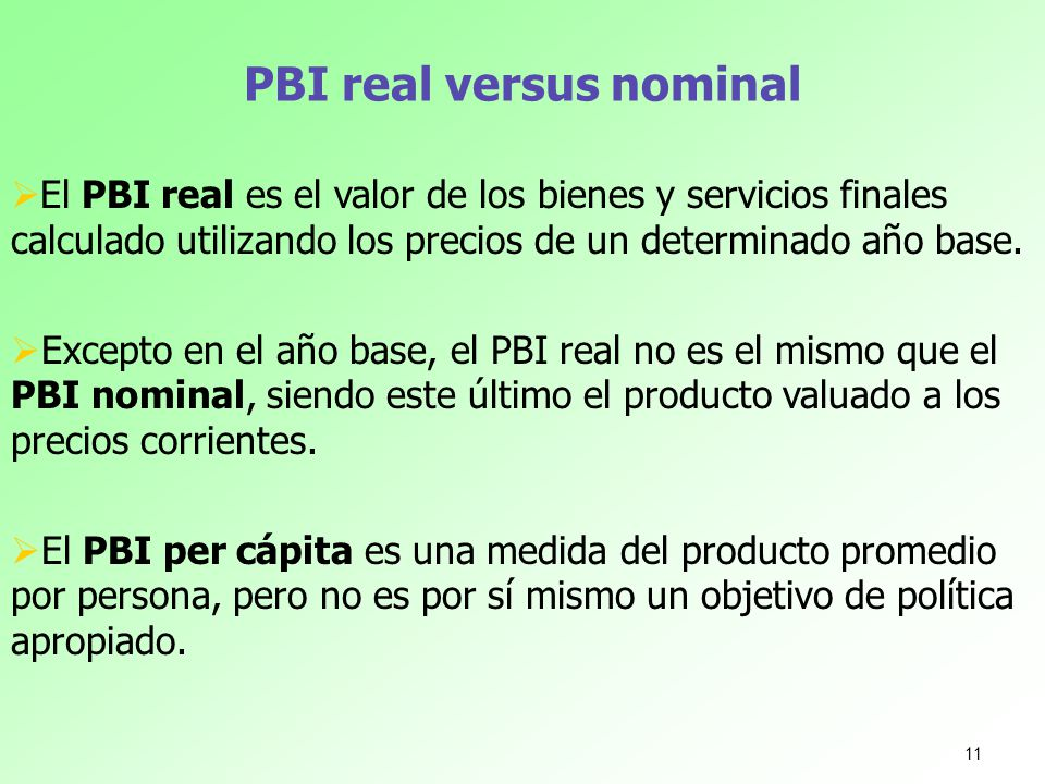 PBI real versus nominal