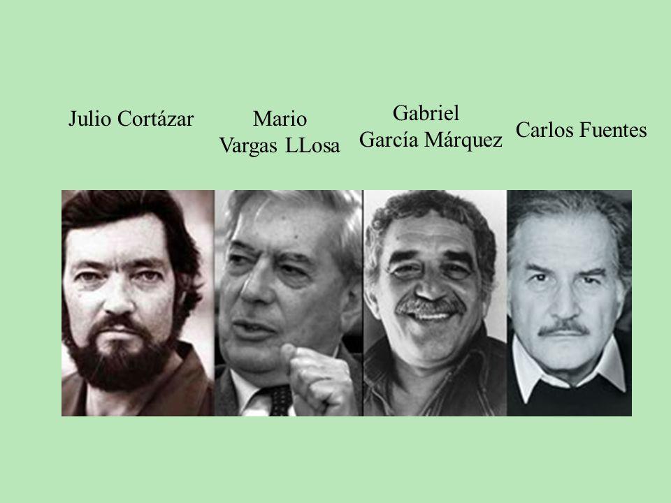 Gabriel García Márquez Julio Cortázar Mario Vargas LLosa Carlos Fuentes