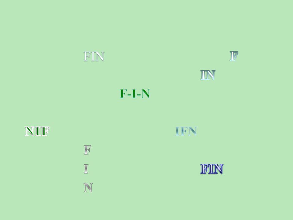 FIN F IN F-I-N NIF IFN F I FIN N