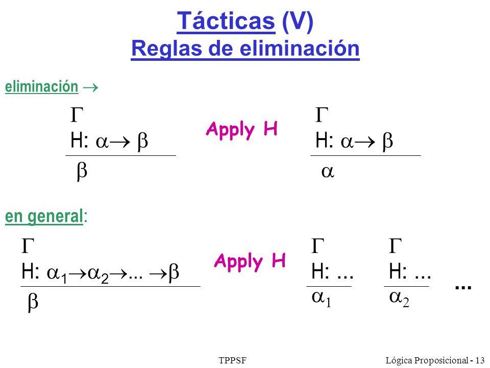 Tácticas (V) Reglas de eliminación