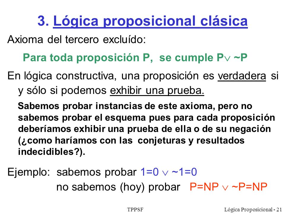 3. Lógica proposicional clásica