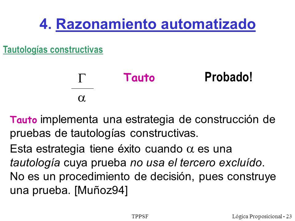 4. Razonamiento automatizado