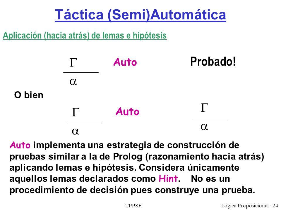 Táctica (Semi)Automática