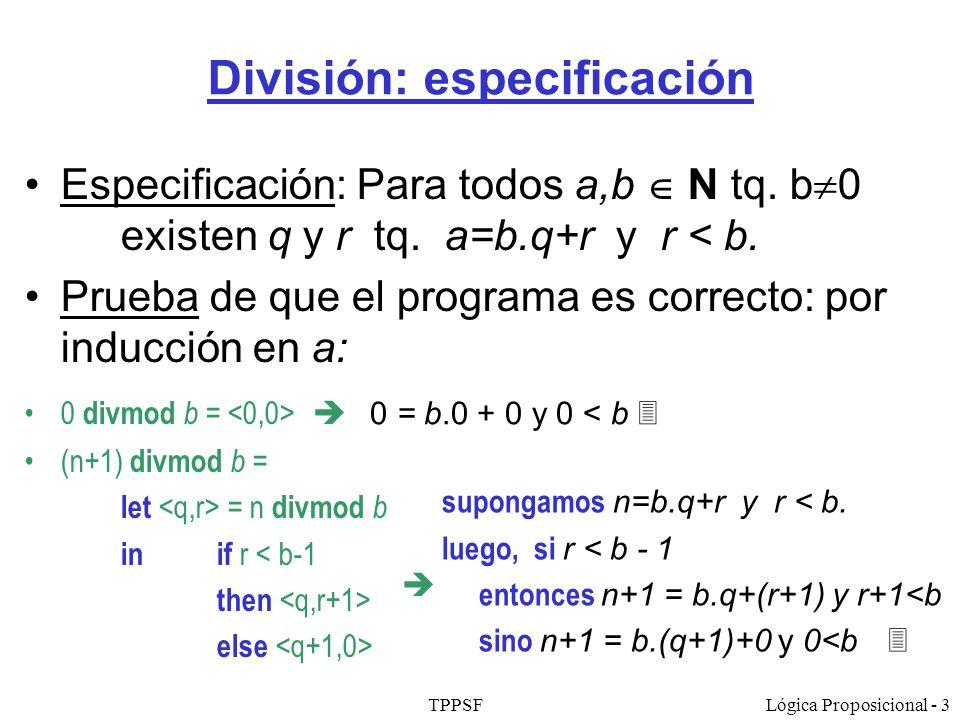 División: especificación