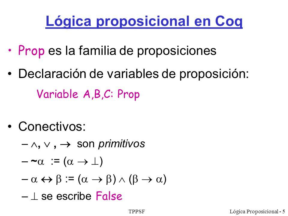 Lógica proposicional en Coq