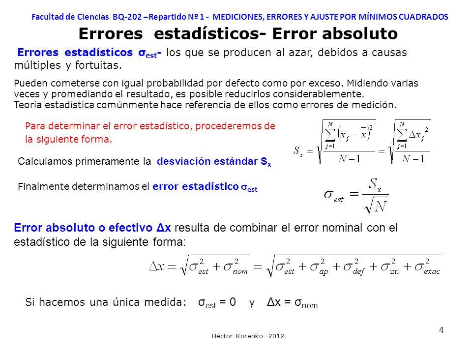 Errores estadísticos- Error absoluto