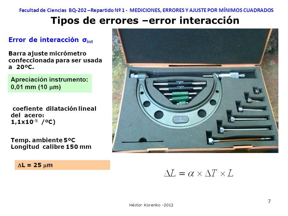Tipos de errores –error interacción