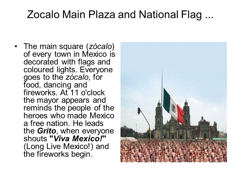 Zocalo Main Plaza and National Flag ...