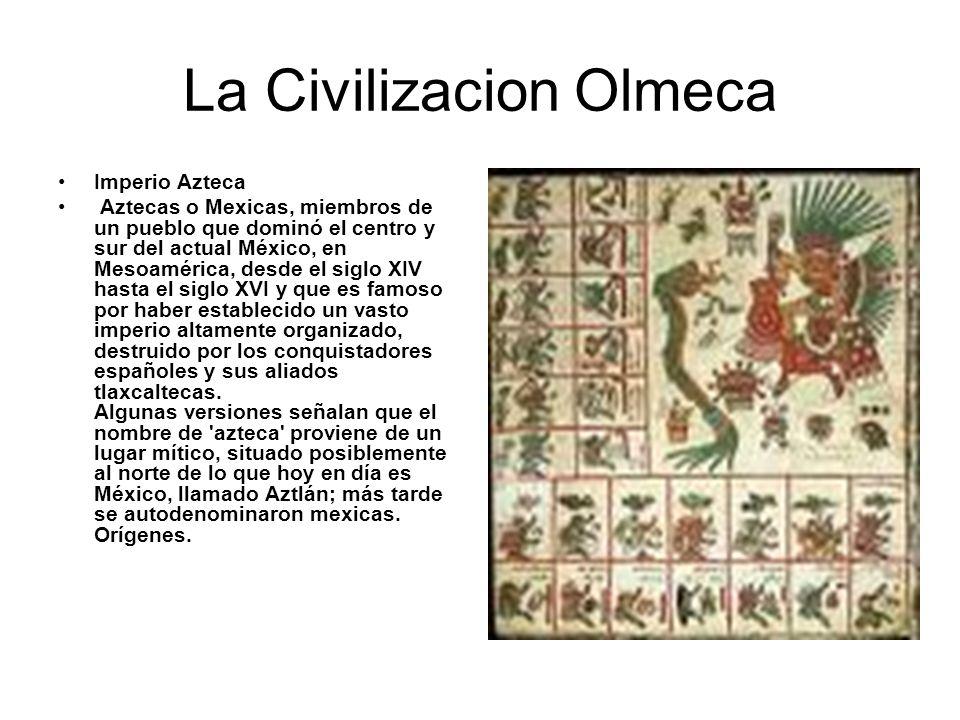La Civilizacion Olmeca