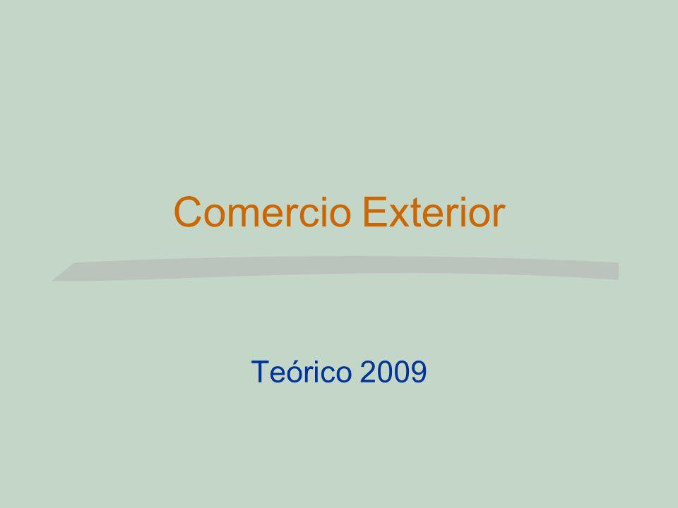 Comercio Exterior Teórico 2009