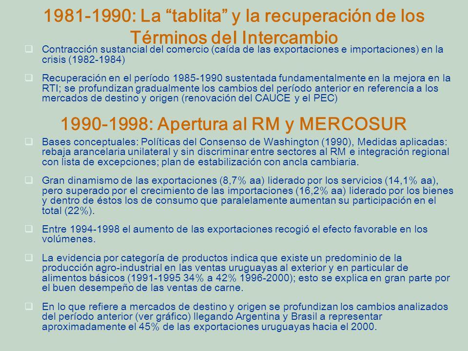 1990-1998: Apertura al RM y MERCOSUR