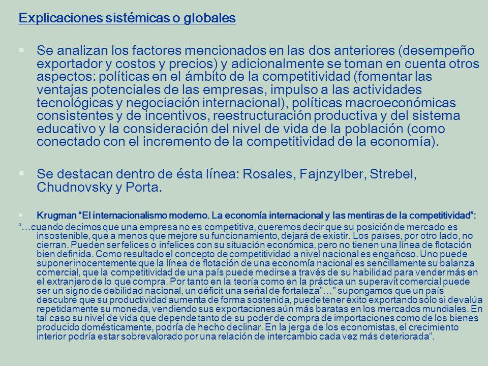 Explicaciones sistémicas o globales