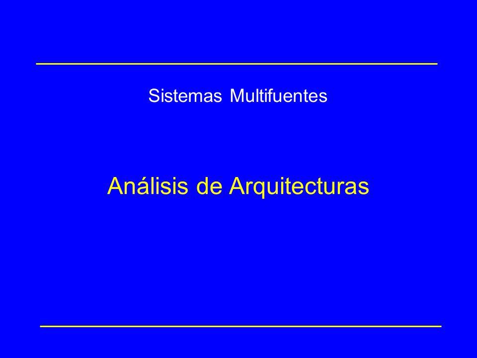 Análisis de Arquitecturas