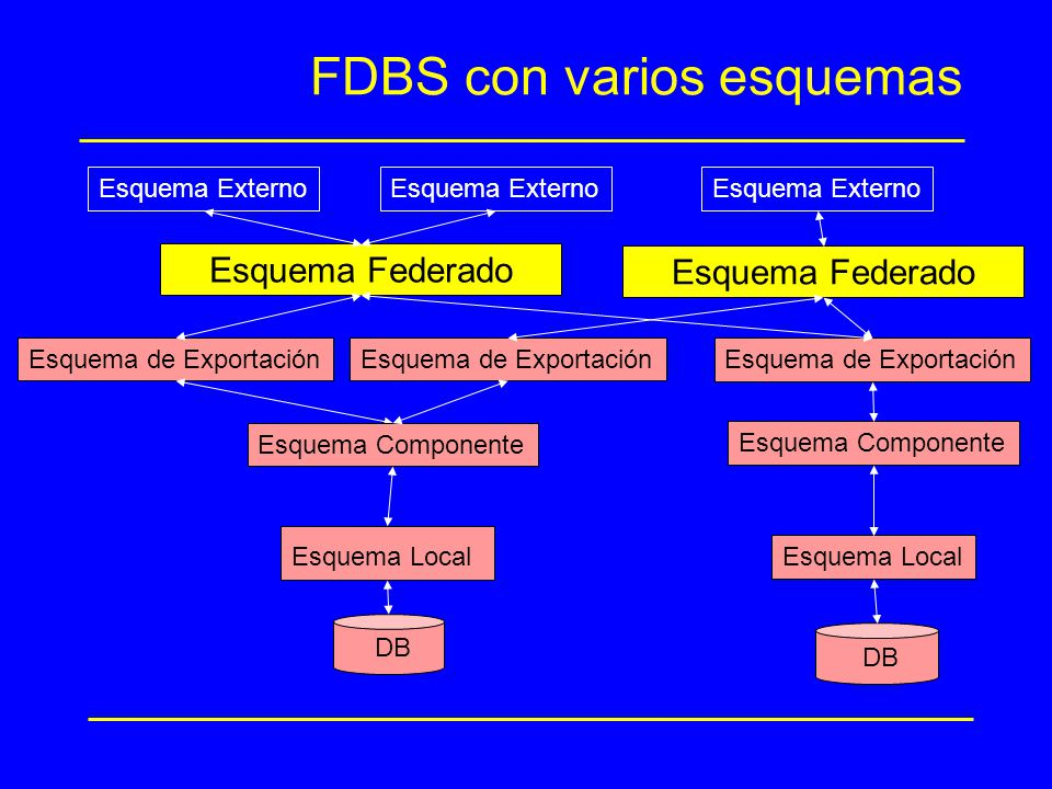 FDBS con varios esquemas