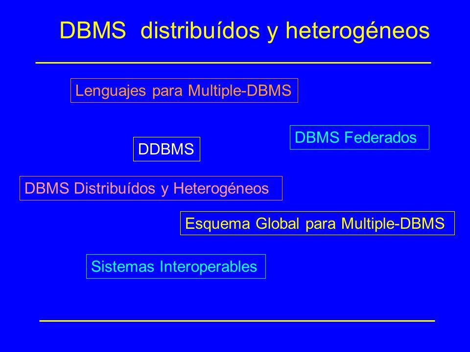 DBMS distribuídos y heterogéneos