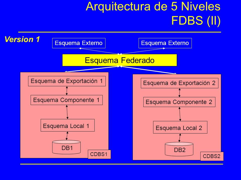 Arquitectura de 5 Niveles FDBS (II)