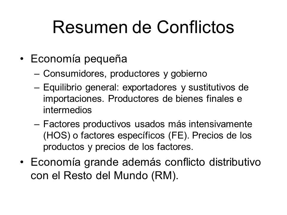 Resumen de Conflictos Economía pequeña