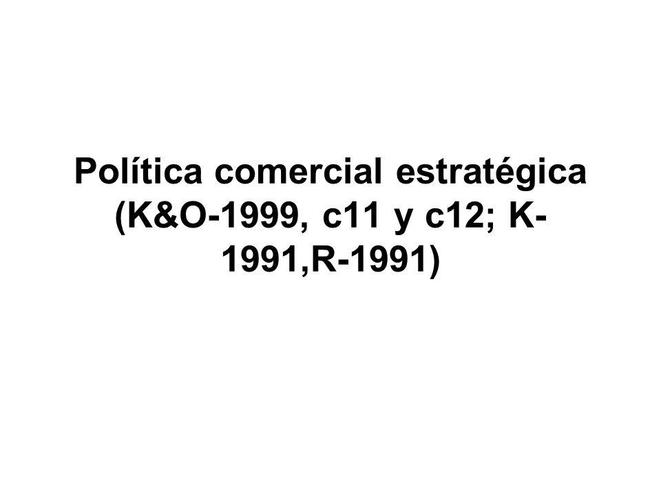 Política comercial estratégica (K&O-1999, c11 y c12; K-1991,R-1991)