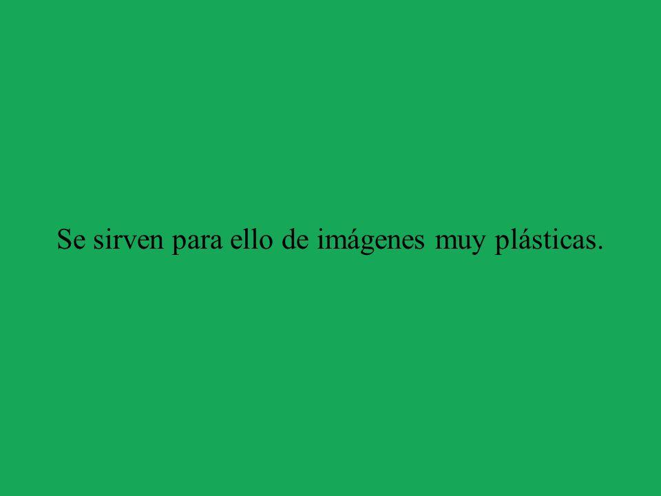 Se sirven para ello de imágenes muy plásticas.
