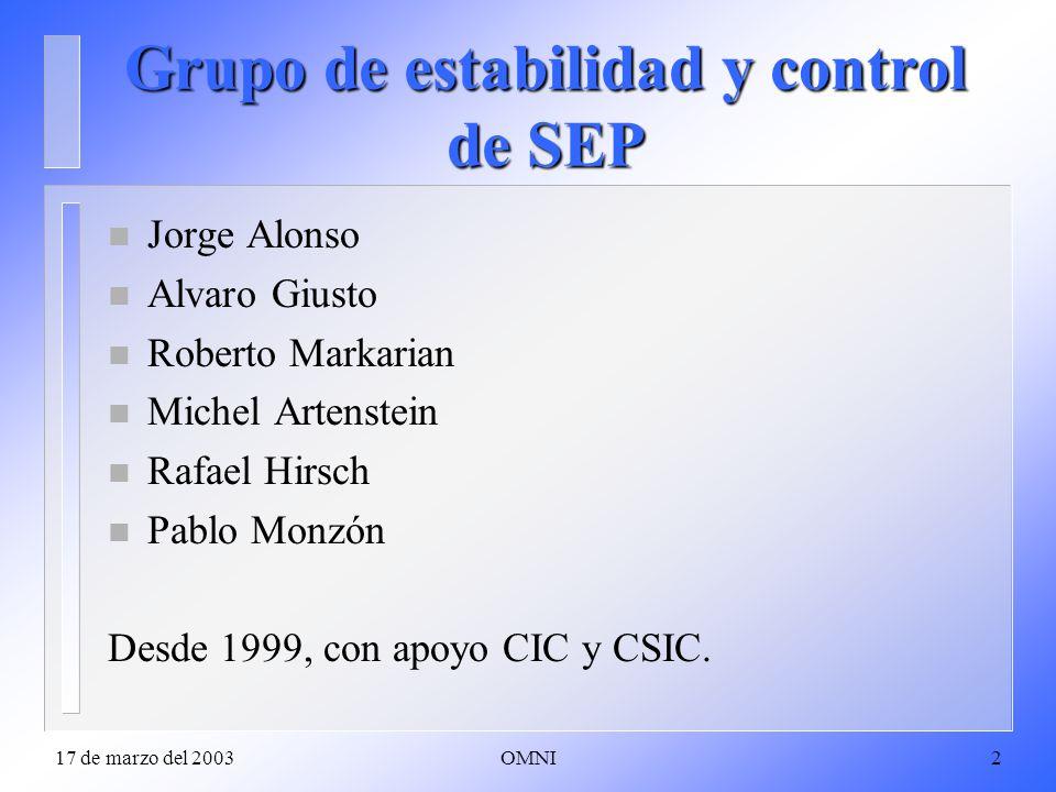Grupo de estabilidad y control de SEP