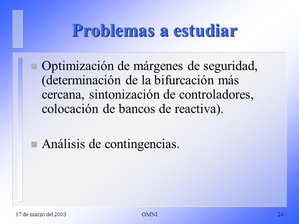 Problemas a estudiar