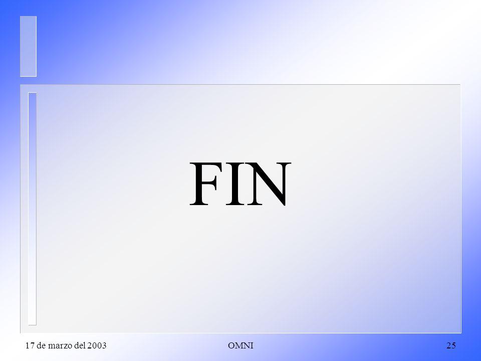 FIN 17 de marzo del 2003 OMNI