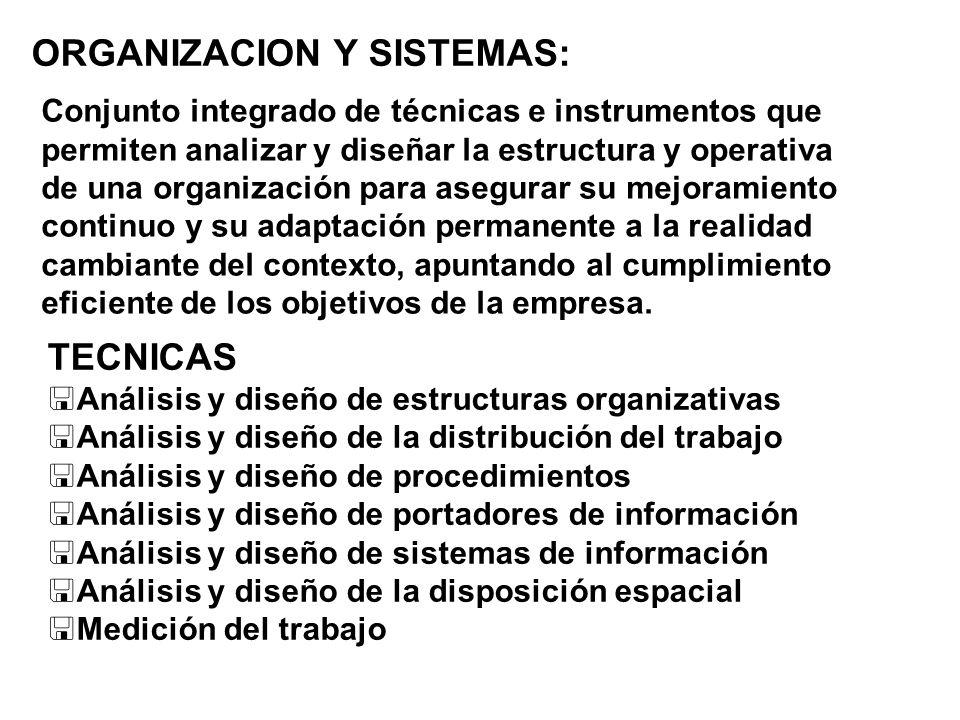 ORGANIZACION Y SISTEMAS: