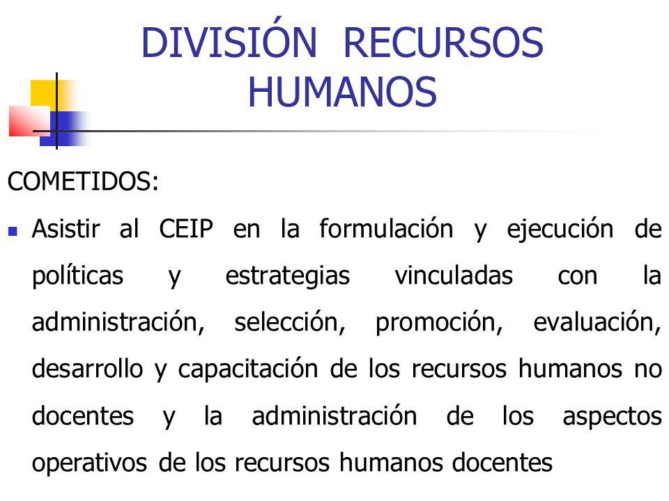 DIVISIÓN RECURSOS HUMANOS