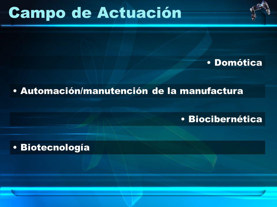 Campo de Actuación Domótica Automación/manutención de la manufactura