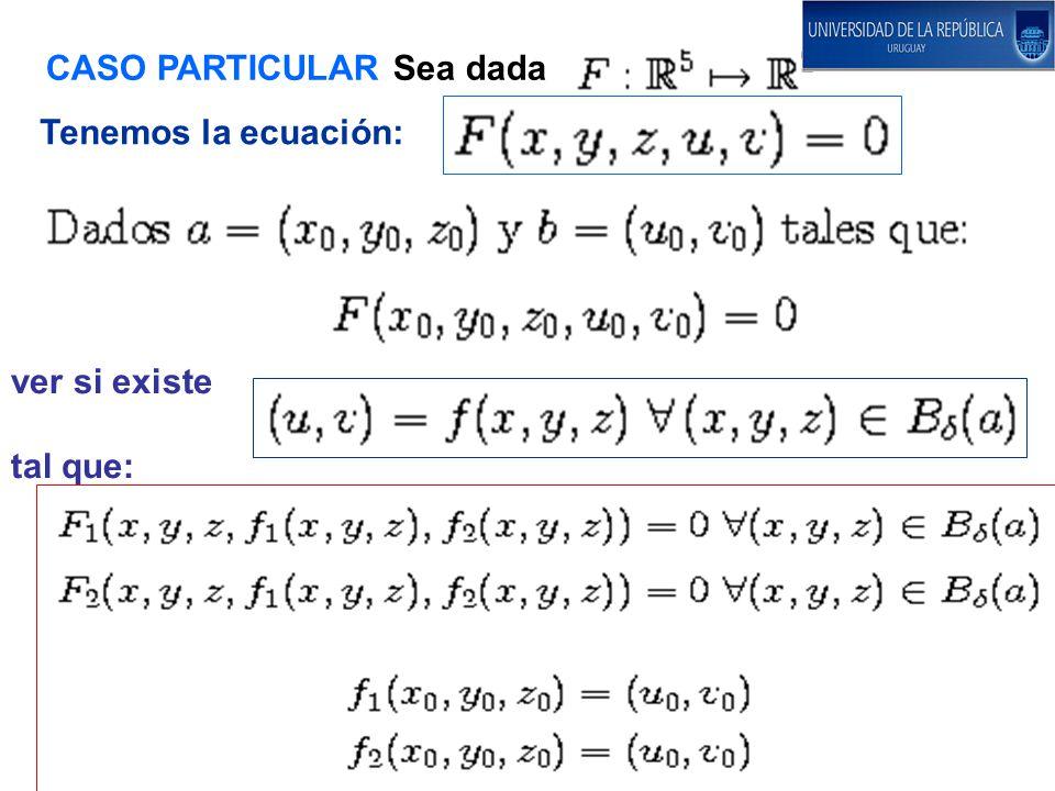 CASO PARTICULAR Sea dada