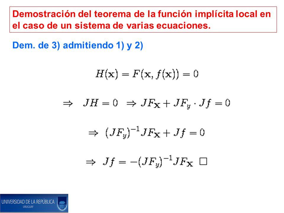 Demostración del teorema de la función implícita local en