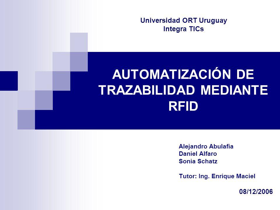 AUTOMATIZACIÓN DE TRAZABILIDAD MEDIANTE RFID