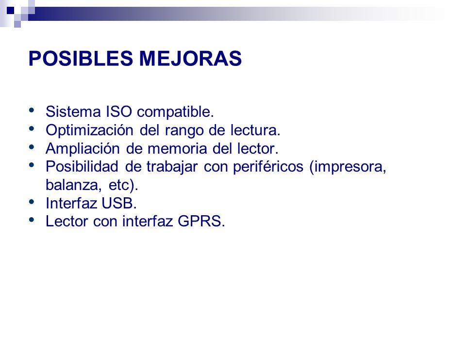 POSIBLES MEJORAS Sistema ISO compatible.