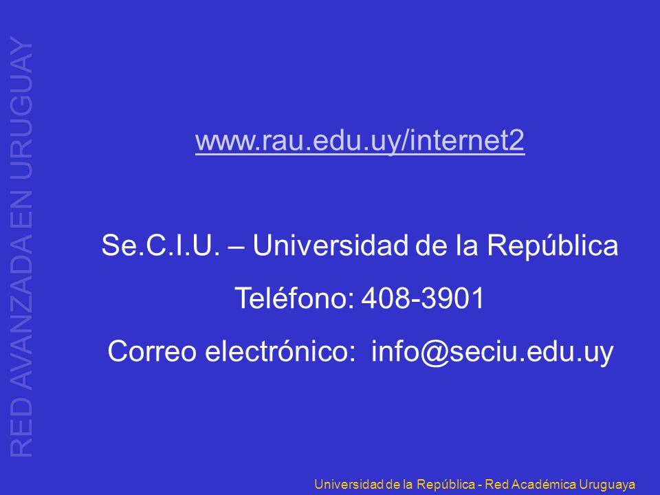 Se.C.I.U. – Universidad de la República Teléfono: 408-3901