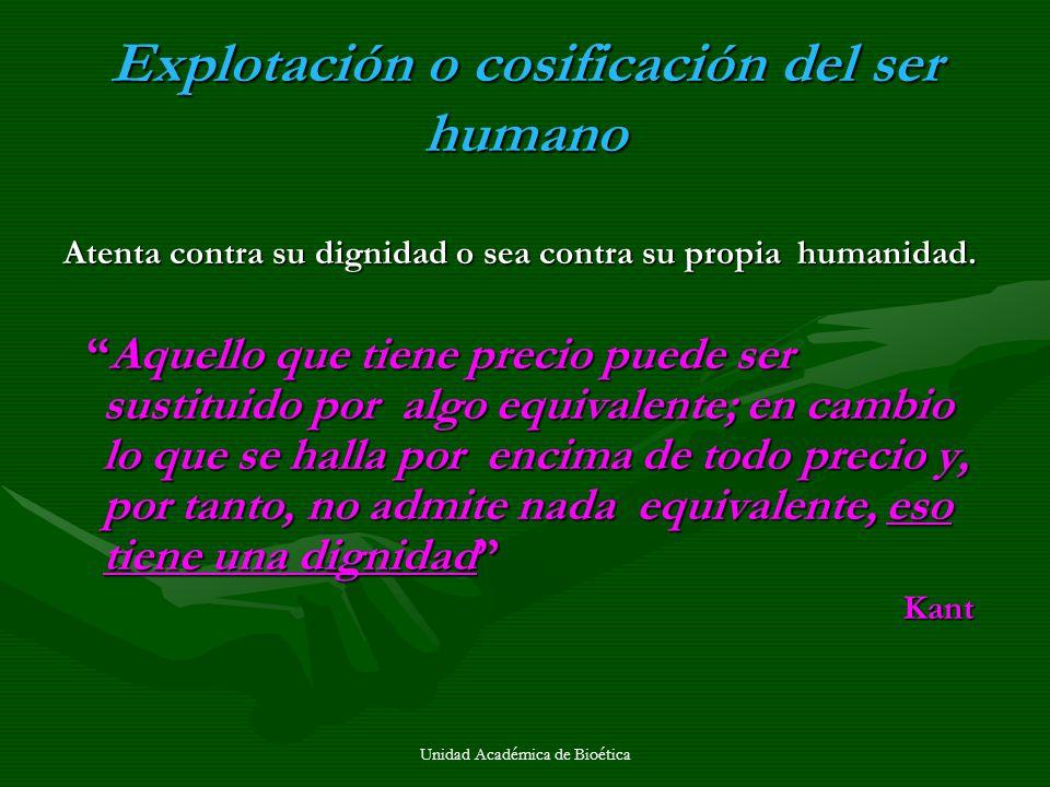 Explotación o cosificación del ser humano