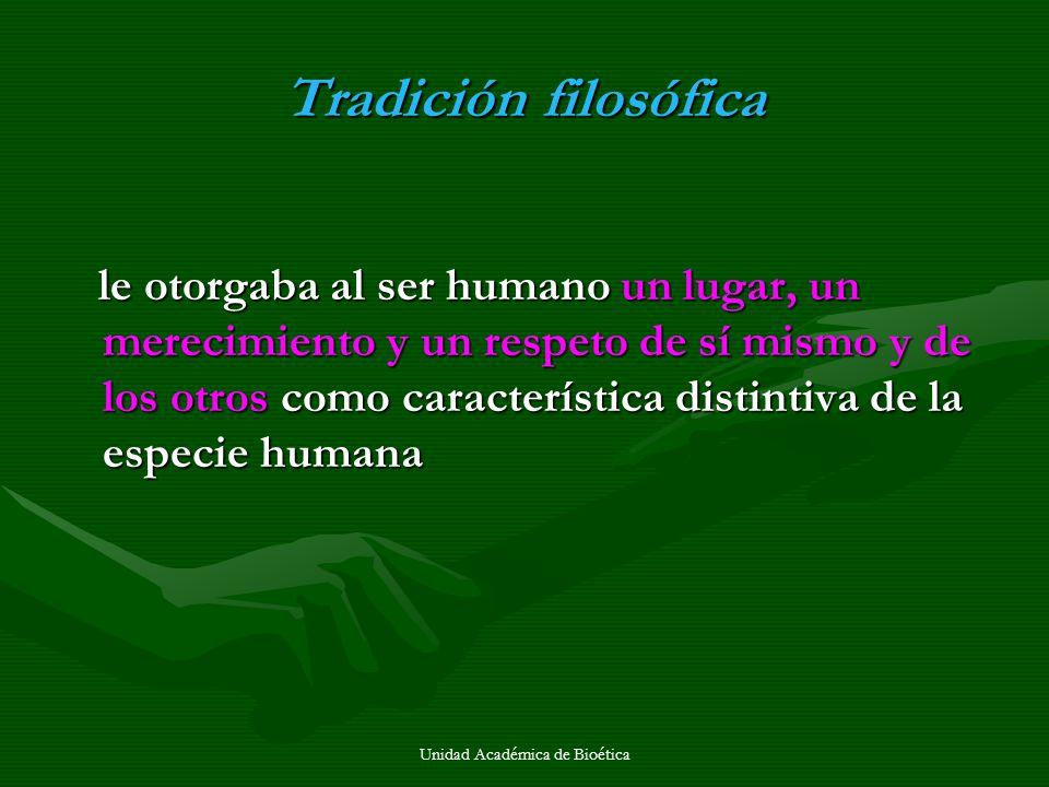 Unidad Académica de Bioética