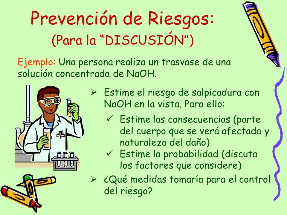 Prevención de Riesgos: