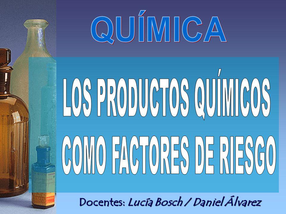 LOS PRODUCTOS QUÍMICOS COMO FACTORES DE RIESGO