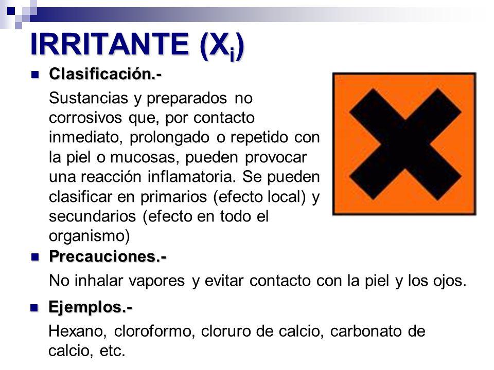 IRRITANTE (Xi) Clasificación.-