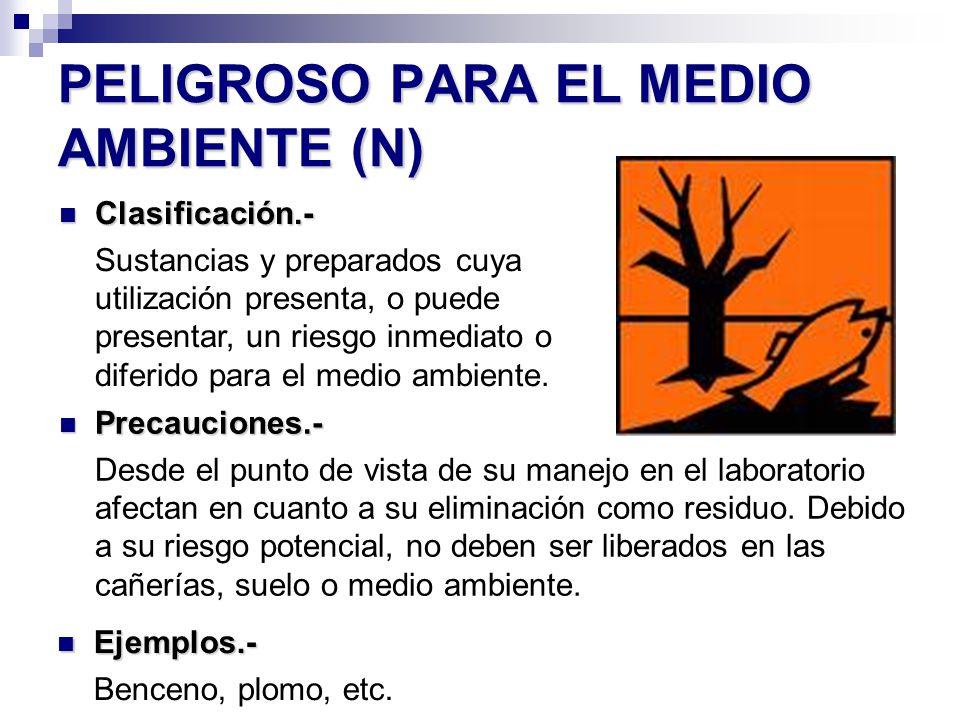 PELIGROSO PARA EL MEDIO AMBIENTE (N)