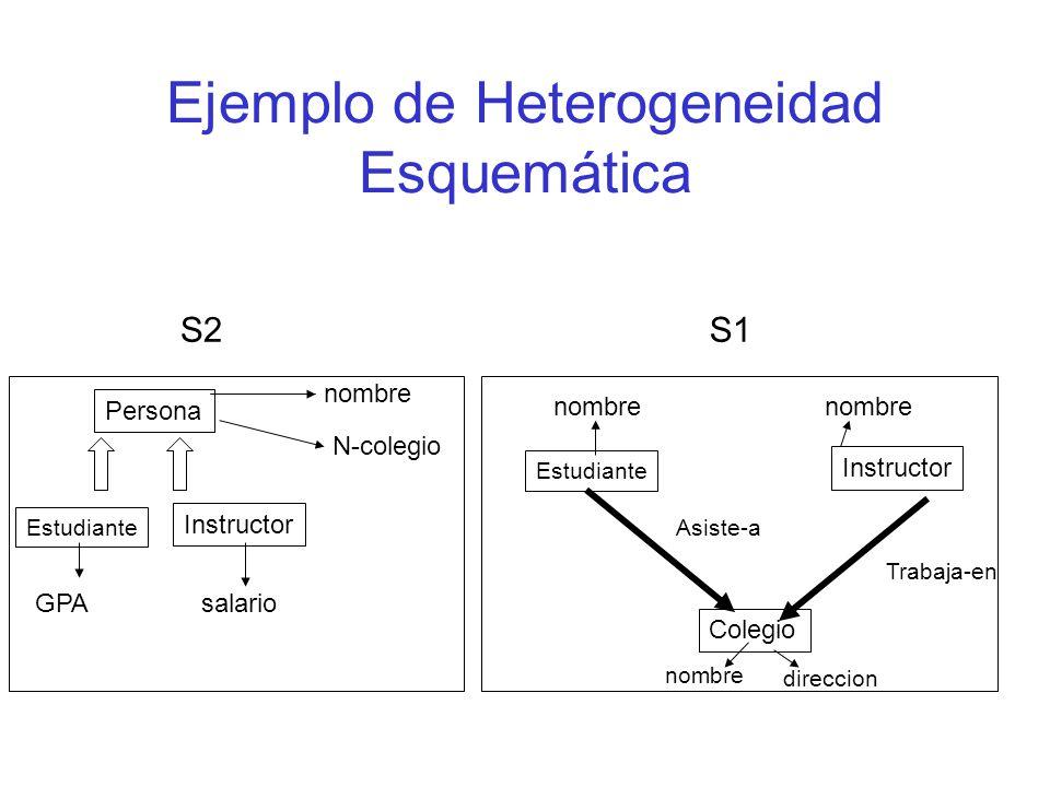 Ejemplo de Heterogeneidad Esquemática