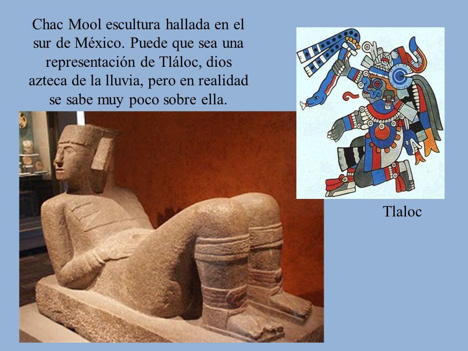 Chac Mool escultura hallada en el sur de México
