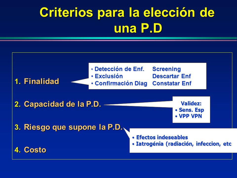 Criterios para la elección de una P.D