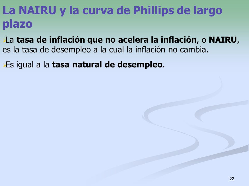 La NAIRU y la curva de Phillips de largo plazo