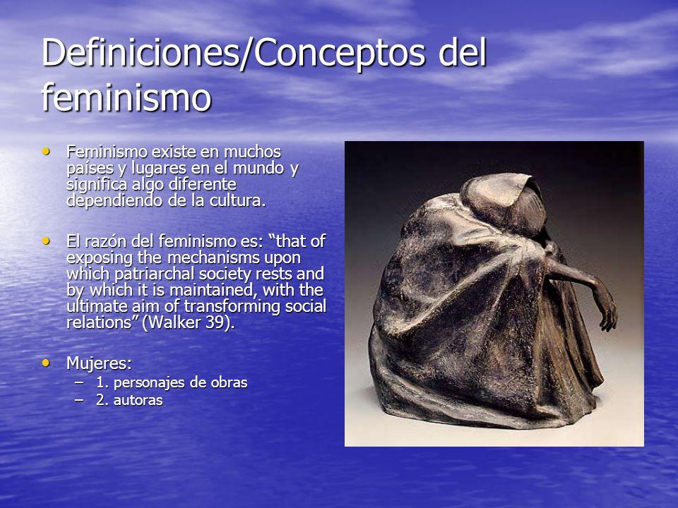 Definiciones/Conceptos del feminismo