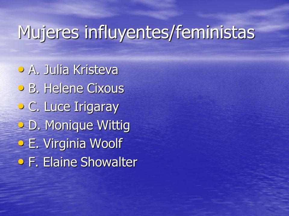 Mujeres influyentes/feministas