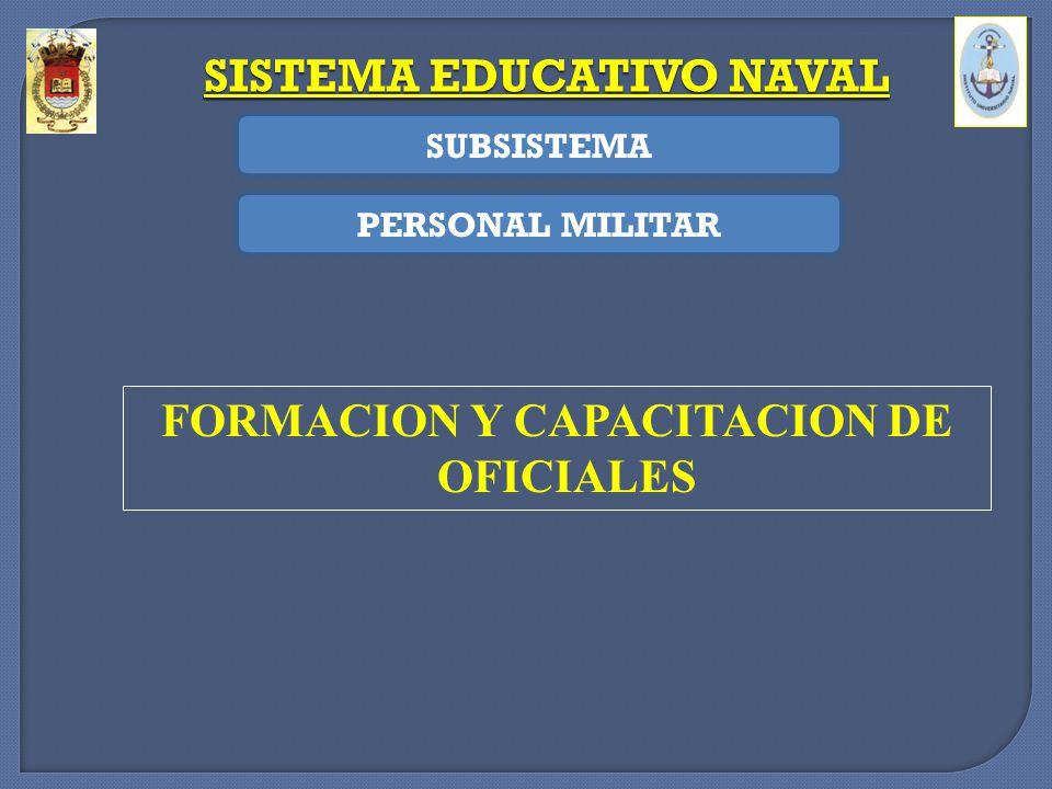 SISTEMA EDUCATIVO NAVAL FORMACION Y CAPACITACION DE OFICIALES