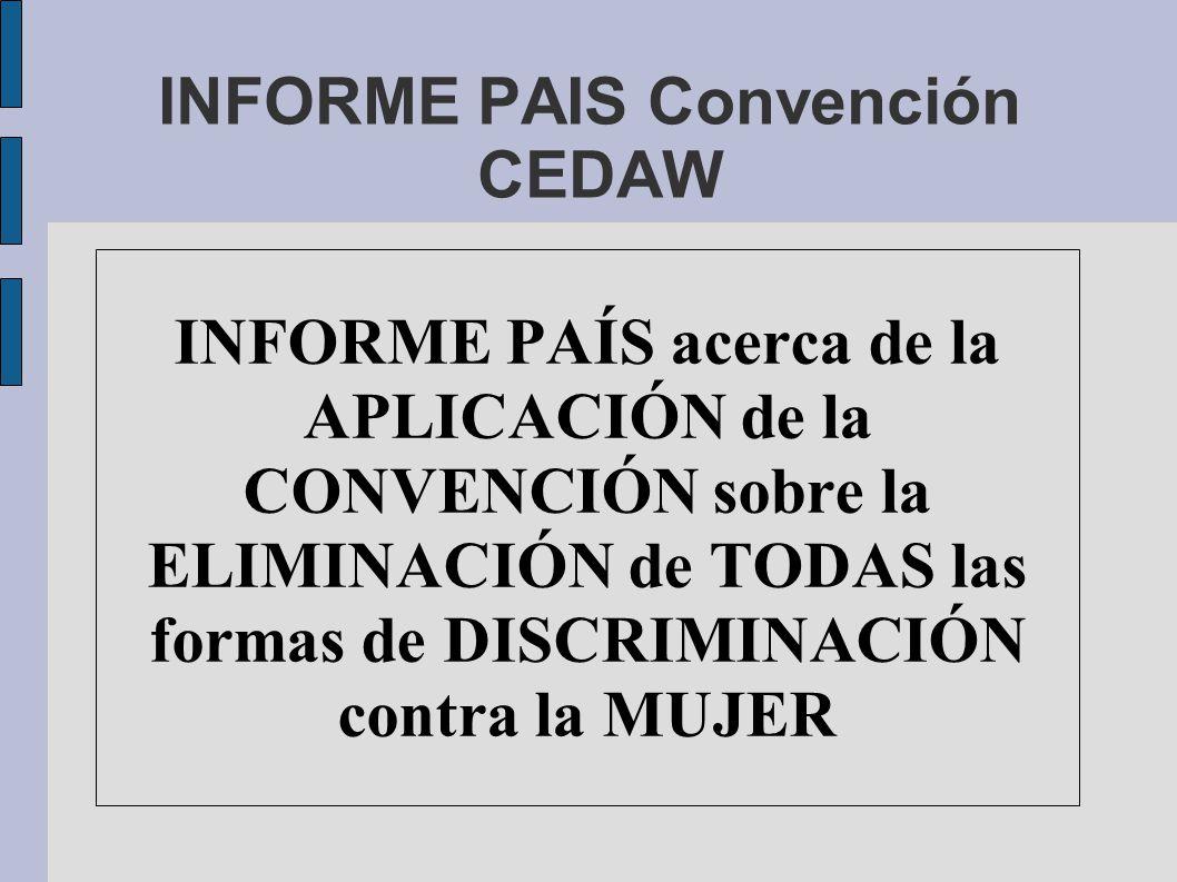 INFORME PAIS Convención CEDAW